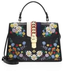 Gucci Sylvie Leather Medium Satchel - BLACK - STYLE