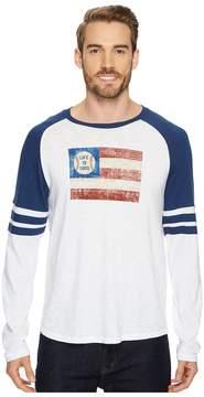 Life is Good Baseball Flag Vintage Sport Long Sleeve Men's Long Sleeve Pullover