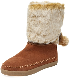 Toms Women's Nepal Leather & Faux Fur Boot