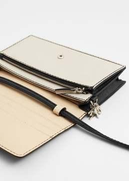 Mango Outlet Contrast flap wallet