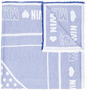 Twin-Set logo print scarf