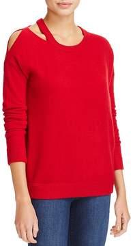 Minnie Rose Cut it Out Cashmere Sweater