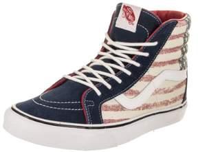 Vans Unisex Sk8-Hi Reissue (Americana) Dress/Blues Skate Shoe 4 Men US / 5.5 Women US