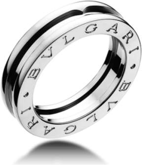 Bulgari Bvlgari B. Zero 1 18K White Gold 1 Band Ring Size: 9.75