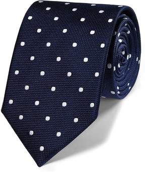 Charles Tyrwhitt Navy Silk Spot Classic Tie
