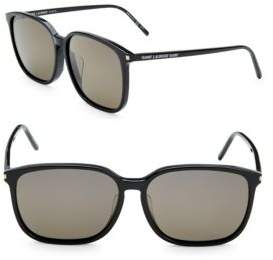 Saint Laurent 59MM Rectangle Sunglasses