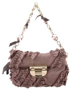 Nina Ricci Woven Ruffle Handle Bag