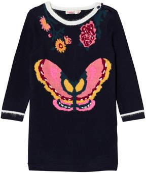 Billieblush Navy Knitted Butterfly Dress