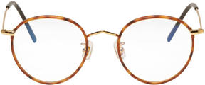 Gentle Monster Tortoiseshell and Gold 14 Proud Glasses