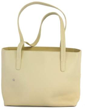 Bally Cream Pebbled Leather Tote