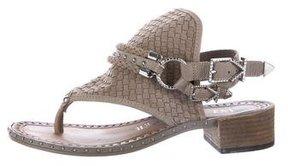 Ivy Kirzhner Woven Suede Sandals
