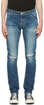 Attachment Indigo Distressed Skinny Jeans
