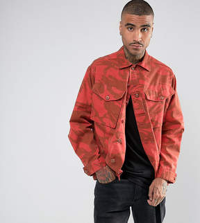 Reclaimed Vintage Revived Military Jacket In Overdye