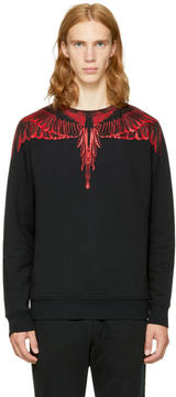 Marcelo Burlon County of Milan Black Saquin Sweatshirt