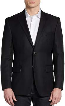 Saks Fifth Avenue BLACK Men's Two-Button Wool Classic-Fit Blazer