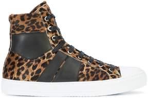Amiri leopard print hi-top sneakers