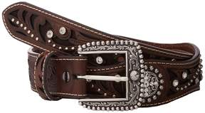 Ariat Scalloped Inlay Rhinestone Belt Women's Belts