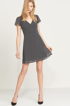 Dynamite Fit and Flare Dress with Flutter Sleeves