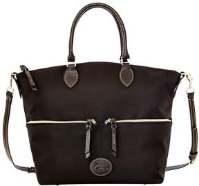 Dooney & Bourke Nylon Large Pocket Satchel - BLACK BLACK - STYLE