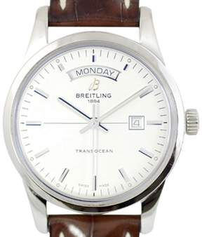 Breitling Transocean A45310 Stainless Steel Automatic 43mm Mens Watch