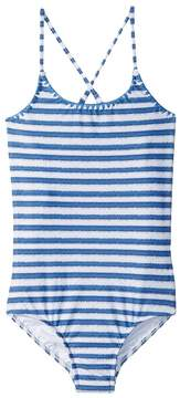 Seafolly Sapphire Coast Stripe Tank One-Piece Girl's Swimsuits One Piece
