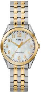 Timex Women's Briarwood Two-Tone/MOP Watch, Stainless Steel Expansion Band
