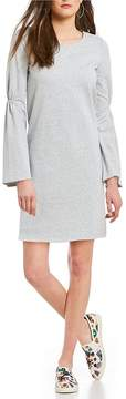 Daniel Cremieux Belle Cinched Bell Sleeve French Terry Dress