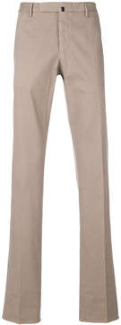 Incotex bootcut chino trousers