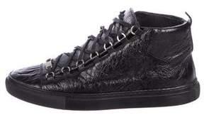 Balenciaga Arena Leather Sneakers