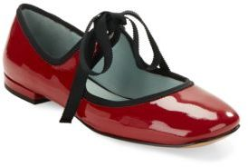 Marc Jacobs Lisa Mary Jane Patent Leather Ballet Flats
