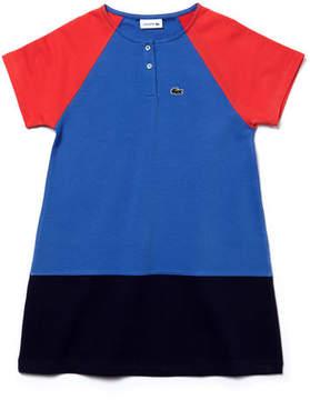 Lacoste Kids' Colorblock Stretch Cotton Fleece Dress