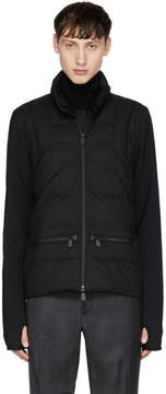 Moncler Black Quilted Front Jacket