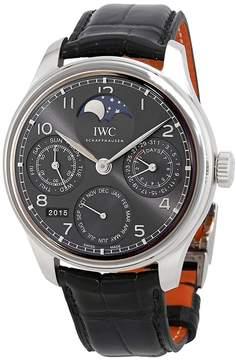 IWC Portugeiser Perpetual Calendar Slate Grey Dial 18K White Gold Automatic Men's Watch