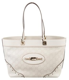 Gucci Medium Guccissima Punch Tote - NEUTRALS - STYLE