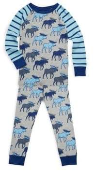 Hatley Toddler's, Little Boy's & Boy's Two-Piece Moose Cotton Pajama Set