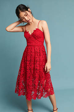 Donna Morgan Scarlet Lace Dress