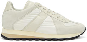 Maison Margiela Beige Retro Trainer Sneakers