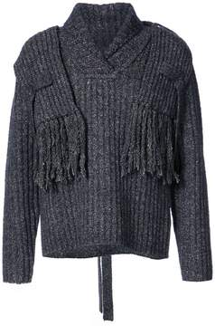 Craig Green ribbed scarf sweater