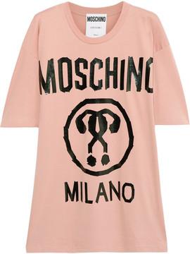 Moschino Oversized Printed Cotton-jersey T-shirt - Blush