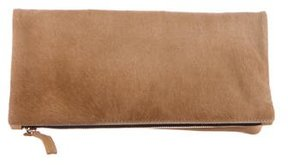 Clare V. Ponyhair & Leather Fold-Over Clutch