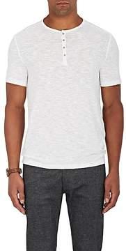 John Varvatos Men's Cotton-Blend Short-Sleeve Henley