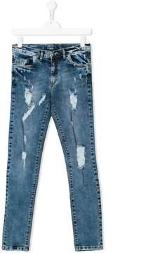 John Richmond Kids Teen ripped detail jeans