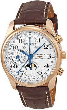 Longines Master Collection Chronograph White Dial Chronograph Brown Leather Men's Watch L26738783