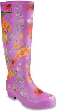 London Fog TOTTY Pull-On Floral Print Tall Rain Boot