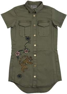 Zadig & Voltaire Embroidered Cotton Gabardine Shirt Dress