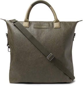 WANT Les Essentiels O'hare Leather-Trimmed Waxed Organic Cotton-Canvas Tote Bag