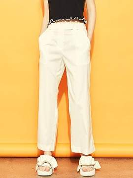 Blank Slit Wide Pants-wh