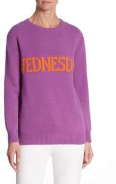 Alberta Ferretti Wednesday Wool-Blend Sweater