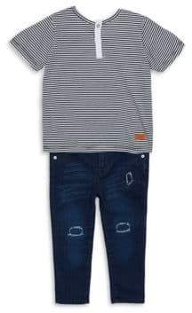 7 For All Mankind Little Boy's Two-Piece Deep Well Top & Pants Set