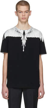 Marcelo Burlon County of Milan Black and White Double Wing T-Shirt